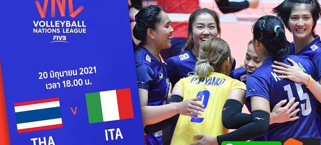 Live Thailand vs Italy -Week 5   Women's VNL 2021